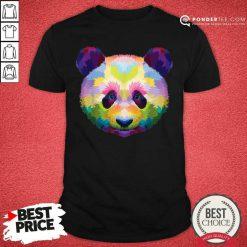 Panda's Head Colorful Artistic Geometric Shirt