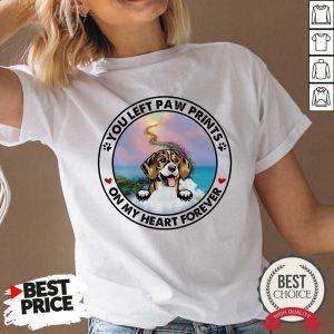 Beagle You Left Paw Prints On My Heart Forever V-neck