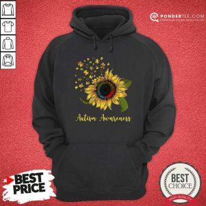 Cute Sunflower Autism Awareness Hoodie