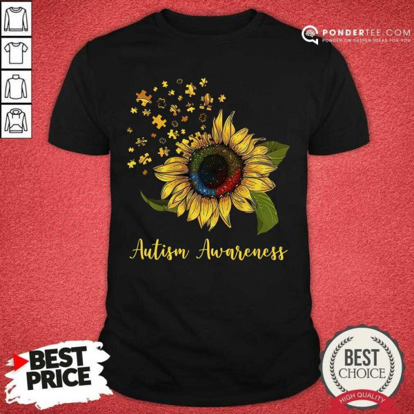 Cute Sunflower Autism Awareness Shirt