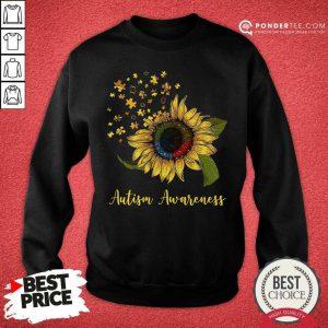 Cute Sunflower Autism Awareness SweatShirt
