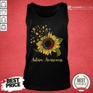 Cute Sunflower Autism Awareness Tank Top